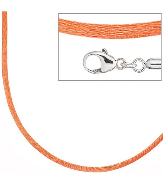 Collier Halskette Seide orange - 4053258103692 Zoom