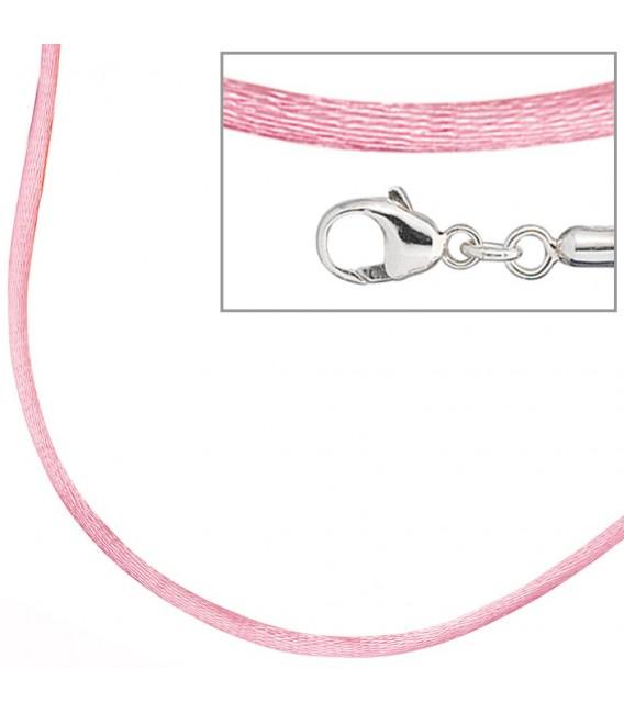 Collier Halskette Seide rosé - 4053258103678