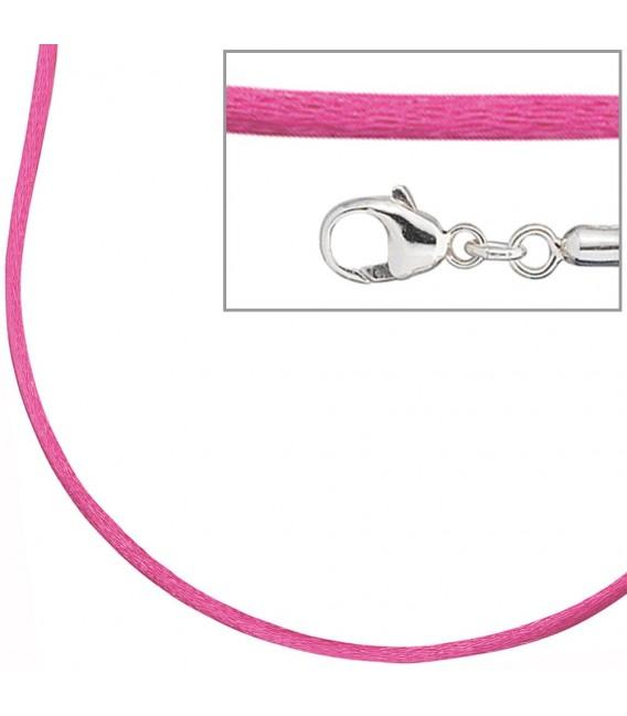 Collier Halskette Seide pink - 4053258103685 Zoom