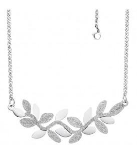Collier Halskette Blätter Edelstahl - 4053258327036