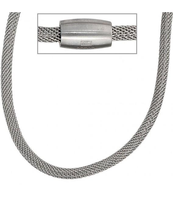 Strumpfkette Edelstahl 45 cm Halskette Kette.