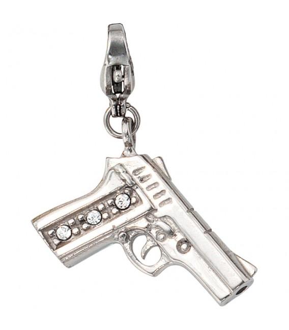 Einhänger Charm Pistole Edelstahl - 4053258105955