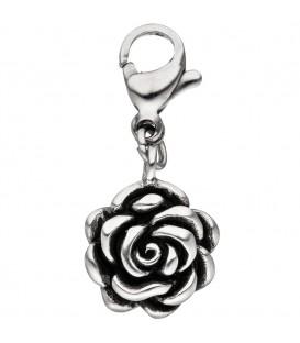 Einhänger Charm Rose Edelstahl - 4053258312803