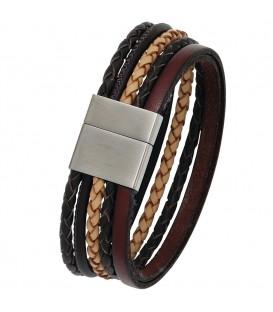 Armband Leder mehrfarbig mit - 4053258226889