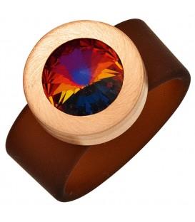 Damen Ring PVC braun - 4053258268551