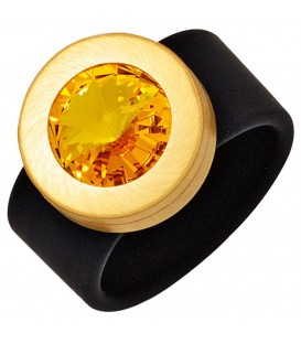 Damen Ring PVC schwarz - 4053258268483