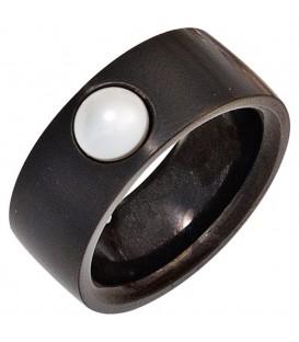 Damen Ring Edelstahl schwarz - 4053258268278