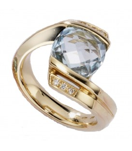 Damen Ring 585 Gold - 4053258052426 Produktbild