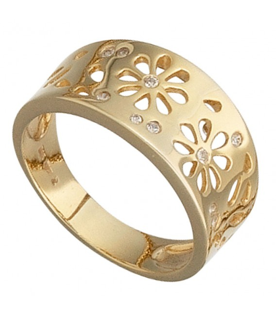 Damen Ring Blumen 585 - 4053258044827