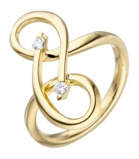 Damen Ring verschlungen 585 - 4053258344033