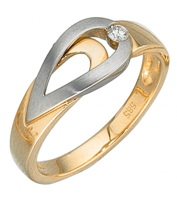 Damen Ring 585 Gold - 4053258040461