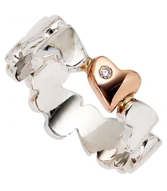 Damen Ring Herzen 585 - 4053258042076