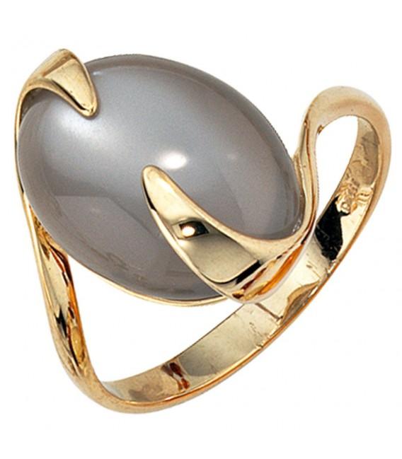 Damen Ring 585 Gold Gelbgold 1 Mondstein Goldring.