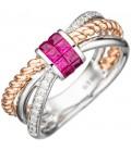 Damen Ring 585 Weißgold - 44805