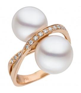 Damen Ring 750 Rotgold - 4053258335581