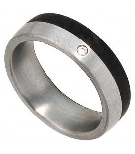 Partner Ring Edelstahl mattiert - 4053258087428