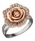 Damen Ring Blume Rose - 46240
