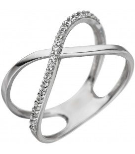 Damen Ring gekreuzt 925 - 4053258332221