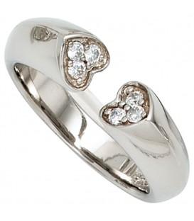 Damen Ring Herz Herzen - 4053258239773