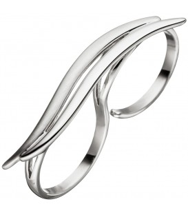 Damen Ring Zweifingerring 925 - 4053258316795