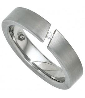 Damen Ring Edelstahl mattiert - 4053258240366