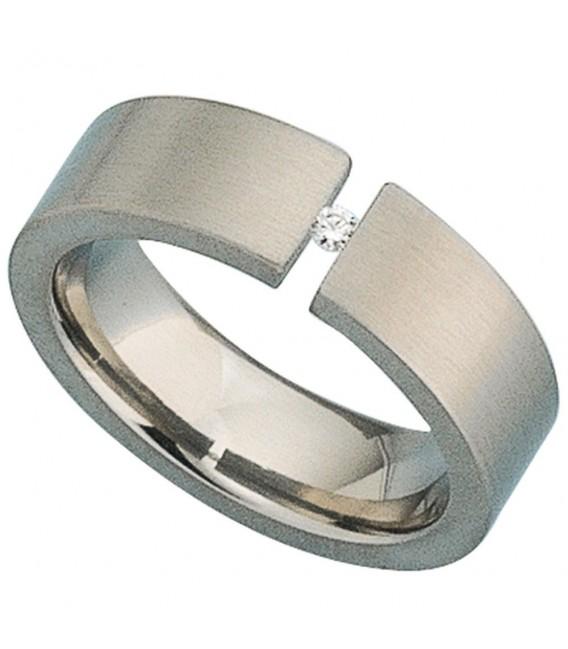 Damen Ring Titan mattiert - 4053258104743