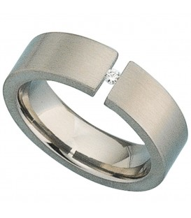 Damen Ring Titan mattiert - 4053258104743