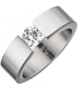 Damen Ring Edelstahl mattiert - 4053258296110