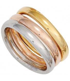 Damen Ring 3-teilig Edelstahl - 4053258268124
