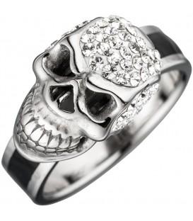 Damen Ring Totenkopf Edelstahl - 4053258300107