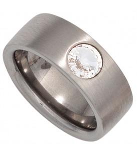 Damen Ring breit Edelstahl - 4053258270004