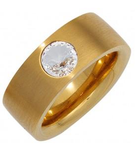 Damen Ring breit Edelstahl - 4053258269565