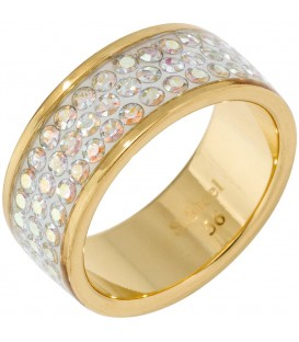 Damen Ring breit Edelstahl - 4053258293706