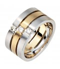 Damen Ring 3-reihig breit - 34297