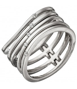 Damen Ring breit mehrreihig - 4053258306031
