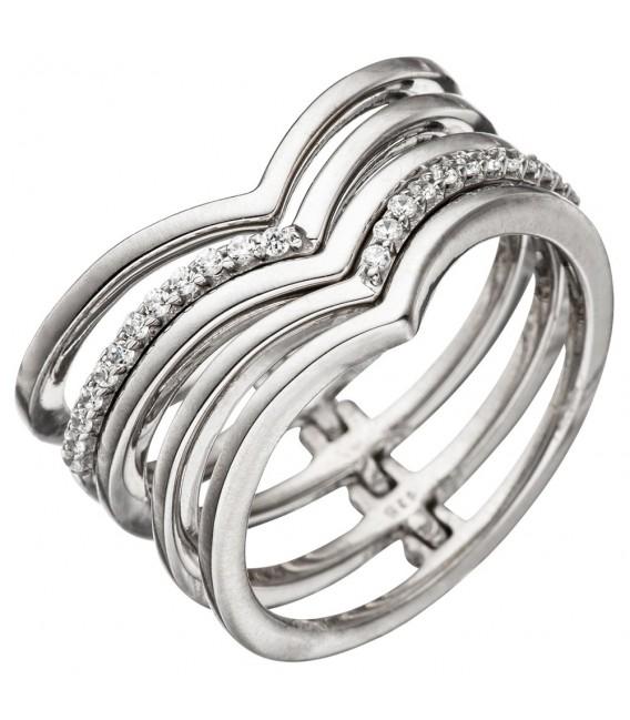 Damen Ring breit mehrreihig - 4053258305966