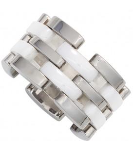 Damen Ring breit Edelstahl - 4053258259276