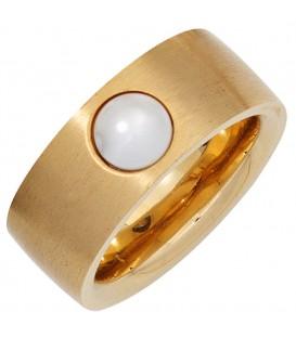 Damen Ring breit Edelstahl - 4053258268346