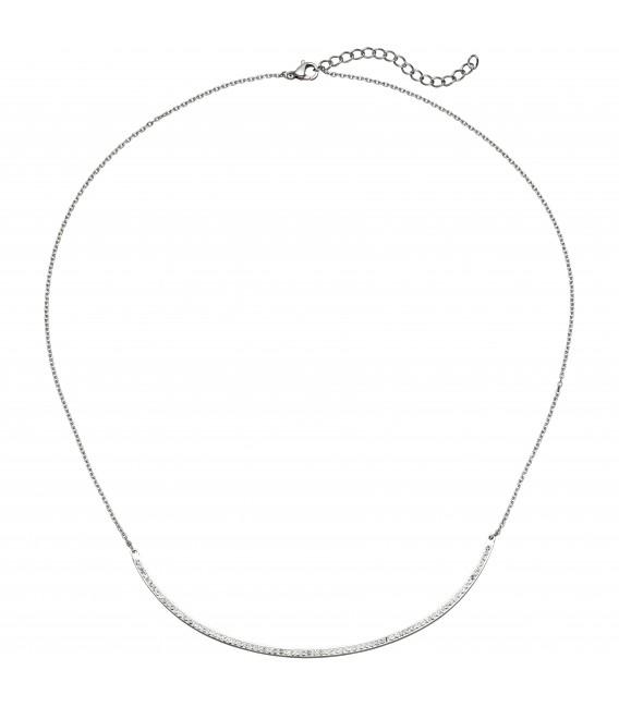 Collier Halskette Kette mit Anhänger aus Edelstahl - Bild 1