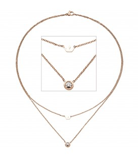 Collier Krone 2-reihig Halskette - 48800