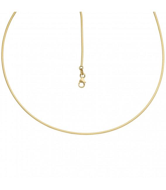 Halsreif 585 Gold Gelbgold matt Goldkette - Bild 2 Zoom