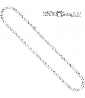 Figarokette 925 Silber diamantiert