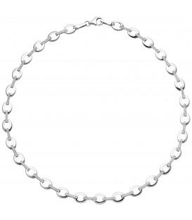 Collier Halskette 925 Sterling Silber 196 Zirkonia 44 cm Kette Silberkette - Bild 1 Produktbild