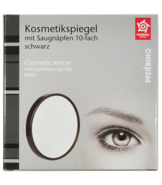 Pfeilring Kosmetikspiegel schwarz 10-fach Vergrößerung Saugnäpfe - Bild 2