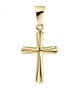 Anhänger Kreuz 375 Gold Gelbgold Kreuzanhänger Goldkreuz Produktbild