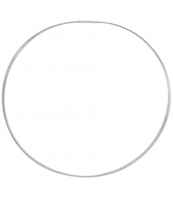 Halsreif 5-reihig Edelstahl 50 cm - Bild 2 Zoom