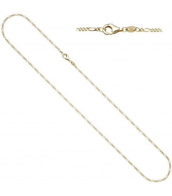 Figarokette 333 Gold Gelbgold diamantiert 1 Zoom