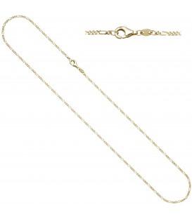 Figarokette 333 Gold Gelbgold diamantiert 1 Produktbild
