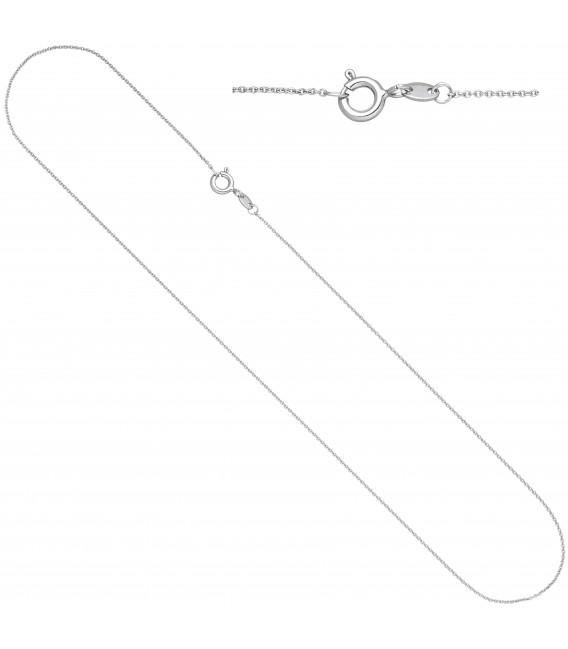 Ankerkette rund 333 Gold Weißgold 42 cm Kette Halskette Weißgoldkette Federring - Bild 1 Zoom