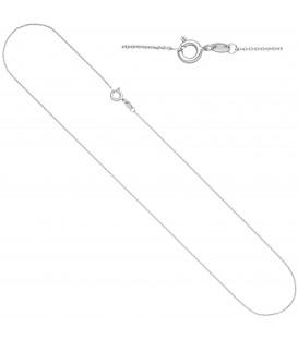 Ankerkette rund 333 Gold Weißgold 45 cm Kette Halskette Weißgoldkette Federring - Bild 1 Produktbild
